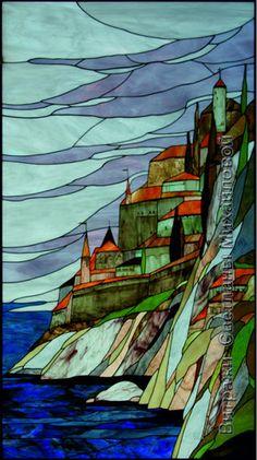 Витраж landscape-017