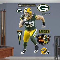 Fathead Green Bay Packers Clay Matthews Linebacker   Wall Sticker Outlet Part 82