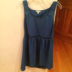 Topshop Blouse/Dreas Can we worn as long short or Short dress. Cute cut out pattern at middrift Topshop Dresses Mini