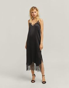 At Stradivarius you'll find 1 Long camisole dress for just 119.9 ILS. Visit now to discover this and more Party. Sexy Women, Women Wear, Zara, Bridal Lingerie, Red Carpet Fashion, Nightwear, Diy Clothes, Vintage Dresses, What To Wear