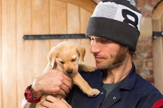 e6a6d6ffe85 Guy and Nigel the puppy. Guy Martin