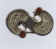 S-Shaped Brooch Date: century Culture: Frankish Medium: Silver-cast relief and settings; Medieval Jewelry, Viking Jewelry, Ancient Jewelry, Medieval Art, Old Jewelry, Vintage Jewelry, Women Jewelry, Wiccan Jewelry, Fine Art Prints