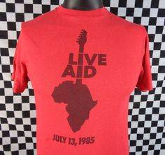 Vintage 80s Live Aid ABC Production Staff Concert TShirt Large 85 RARE Vtg Tee #Hanes #GraphicTee