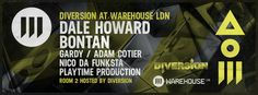 Warehouse LDN presents Diversion with Bontan and Dale Howard @ Warehouse LDN (Hasting Wood Trading Est, Harbet Road, London, N18 3HT, United Kingdom)...On Saturday February 15, 2014 From 22:00 - 06:00...House music all night long with Dale Howard, Bontan and Warehouse LDN residents...Price: £8-10...Artists: Bontan, Dale Howard...Category: Nightlife...