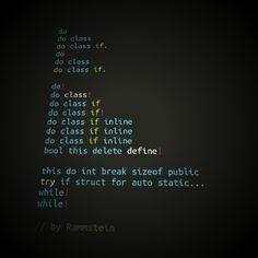 """If Rammstein did code"" C @limedaring"