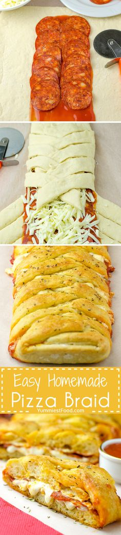 Easy Homemade Pizza Braid - is enjoyable for the entire family. This homemade pizza braid is so quick, easy and delicious you will want to make it again!