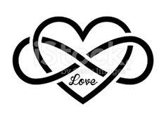Resultado de imagem para tatuagem coração com infinito