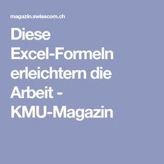 Diese Excel-Formeln erleichtern die Arbeit - KMU-Magazin