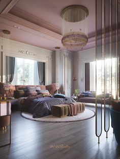 digest interior design - neutral tones, light wood, soft textiles and light. All zones are opened towards the windows to add more natural light. Room Design Bedroom, Girl Bedroom Designs, Room Ideas Bedroom, Home Room Design, Dream Home Design, Home Interior Design, Bedroom Decor, Design Hall, Bed Design