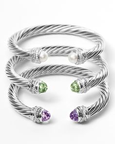 Cable bracelets make the perfect stack.