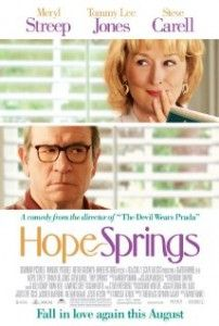I had high hopes for Hope Springs. But the film falls flat. The story and the characters are certainly real and relatable. But as in life, real and relatable can be quite boring – even at the hands of a stellar cast. Meryl  is excellent (as always) in the role of Kay, a woman whose 31-year marriage to Arnold (Tommy Lee Jones) has lost its spark and fallen victim to routine. They love each other. But they don't seem to be much in love with each other any more. Click through for full review.