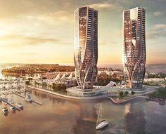 Zaha Hadid unveils sinuous skyscrapers for Australia's Gold Coast - Australia