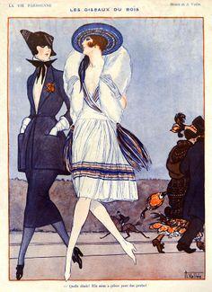 Illustration for La Vie Parisienne  http://www.pinterest.com/adisavoiaditrev/