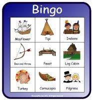 Nice looking Thanksgiving Bingo! - - Pinned by @PediaStaff – Please visit http://ht.ly/63sNt for all (hundreds of) our pediatric therapy pins