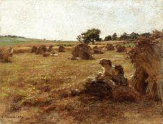 Harvest, Mother Breastfeeding, Three Figures Léon Augustin Lhermitte - 1921