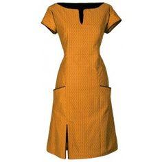 Ecouture by Lund -  Connie- kjole i økologisk bomuld dress yellow. Ønsker mig virkelig denne i str. 36.