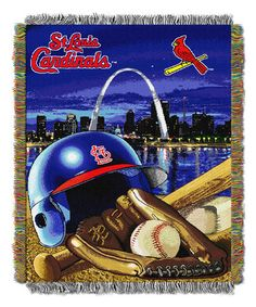 Look what I found on #zulily! St. Louis Cardinals Woven Tapestry Throw by The Northwest Company #zulilyfinds