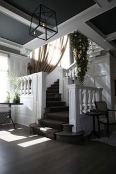 Beautiful stairway - tucked away if I have to have one I like this look