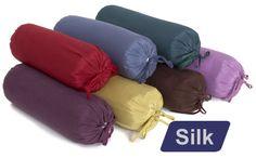 Silk Neck Pillow (with Buckwheat Hulls)   YogaAccessories.com