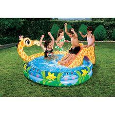 Banzai Spray 'N Splash Giraffe Inflatable Swimming Pool  $29.97