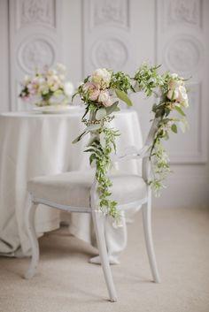 #Wedding #WeddingInspiration Chair Decor Flowers by Indeco Flowers