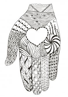 love in your hands coloring page