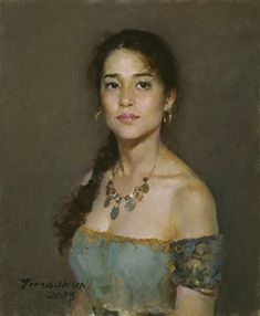 Artist: Yim Mau-kun, oil on canvas, 2003 {contemporary figurative impressionist… Painting People, Woman Painting, Figure Painting, Gravure Illustration, Portrait Illustration, Oil Portrait, Portrait Paintings, Classical Art, Art Graphique