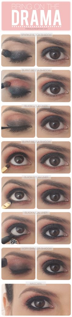 Pretty and easy party makeup.
