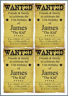 download now free cowboy birthday invitations free printable