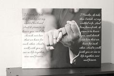 Wedding Canvas Art Print Custom Words Added by DexterDigitalMedia, $55.00