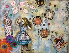 Alice in wonderland the golden afternoon plucking Alice and wonderland art projects