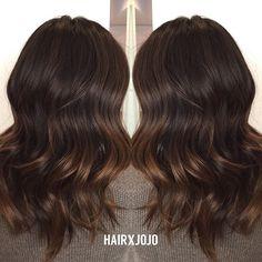 Natural brunette #balayage ☕️☕️☕️ // #HAIRxJOJO #HAIRBYJOANNECHUNG