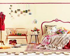 Schlafzimmer Wand in rosa streichen - moderne Idee