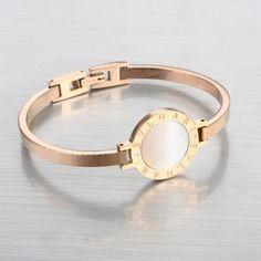 Replica Rose Gold Stainless Steel Bvlgari Bracelet