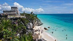 tulum, mexico  una de las mejores playas, conserva unas ruinas mayas, Quintana Roo, extremo sur riviera maya