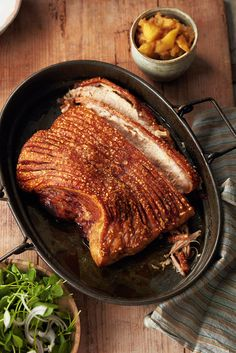Gordon Ramsay's method for roasting pork belly – hot to begin with, cooler for a longer period of time, then a hot blast at the end – guarantees the most excellent crispy crackling, as well as meltingly tender meat