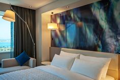 Tour Le Royal Méridien Abu Dhabi with our photo gallery. Our Abu Dhabi hotel photos will show you accommodations, public spaces & more. Travel And Tourism, Abu Dhabi, Natural Wood, Curtains, Bed, Room, Furniture, Home Decor, Business