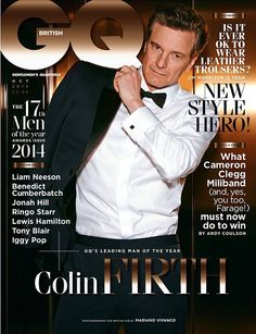 "Congrats to Colin! Stilling Looking Sexy! » Colin Firth ""Leading Man of the Year""  at the 2014 GQ Men of the Year Awards! » https://twitter.com/BritishGQ"