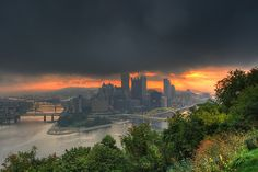 An Early Morning View of Downtown Pittsburgh  Photograph by Z!@, via Flickr
