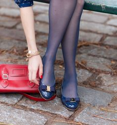 Ballerines vernies Varina Ferragamo — Mode and The City Ballet Flats Outfit, Ballerina Shoes, Ballerinas, Shoe Palace, Blue Tights, Pantyhose Outfits, Crystal Shoes, Nylons Heels, Gorgeous Feet
