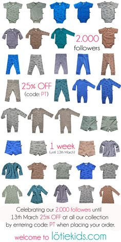 www.lotiekids.com   // 2.000 followers // 25% OFF untill 13th March by entering code: PT when placing order.