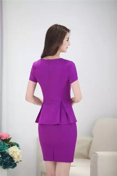 New Professional Skirt Suits With Tops And Mini Skirt Summer Slim Fashion Short Sleeve Female Business Women Casual Outfits Casual Work Outfits, Casual Dresses For Women, Cute Dresses, Clothes For Women, Mode Shorts, Girl Fashion, Fashion Outfits, Business Dresses, Blazers For Women