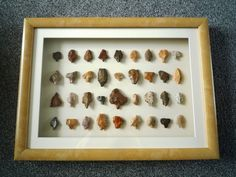 Paleolithic Arrowheads in 3D Frame, Authentic Saharan Artifacts 70,000BC (0001)