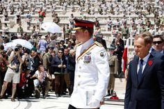 Prince Harry Photos - Prince Harry and Prime Minister of Poland Donald Tusk attend the Polish commemoration service ceremony at Polish Cemetery on May 18, 2014 in Monte Cassino, Italy. Prince Harry will attend a number of events commemorating the Allied Campaign during WWII, focussing on the 70th anniversary of the Battle of Monte Cassino during his two-day official visit to Italy. - Prince Harry Visits Italy