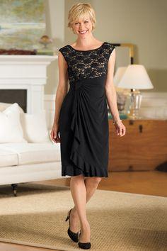 Ruffles and Lace Knit Dress | Chadwicks of Boston