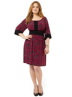 Francine Dress In Mulberry Tapestry