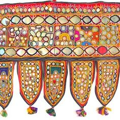 Indian, Hand Embroidered Vintage Toran