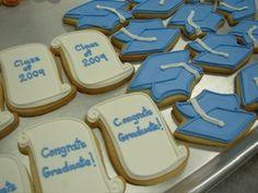 High School Graduation Party Ideas | graduation cookies
