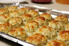 Cheesy Chicken Meatballs. Love the melted cheese on top!