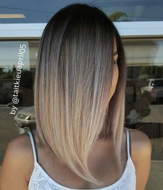 Brown+Ombre+Lob